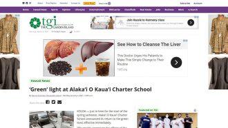 'Green' light at Alaka'i O Kaua'i Charter School