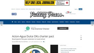 Acton-Agua Dulce OKs charter pact