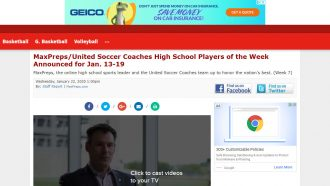 MaxPreps/United Soccer Coaches High School Players of the Week...