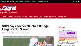 SCVi boys soccer clinches Omega League's No. 3 seed