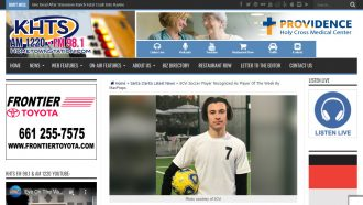 SCVi Soccer Player Recognized As Player Of The Week...