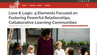 Love & Logic: 9 Elements Focused on Fostering Powerful...