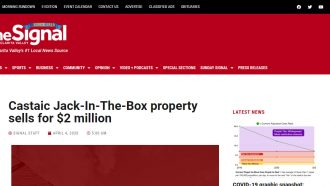 Castaic Jack-In-The-Box property sells for $2 million