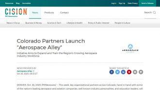 """Colorado Partners Launch """"Aerospace Alley"""""""