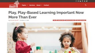 Play, Play-Based Learning Important Now More Than Ever