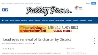 iLEAD Lancaster eyes renewal of its charter by District