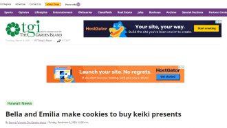 Bella and Emilia make cookies to buy keiki presents