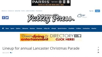 Lineup for annual Lancaster Christmas Parade