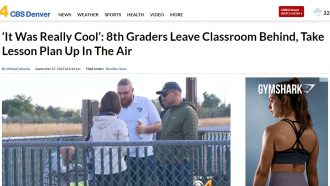 'It Was Really Cool': 8th Graders Leave Classroom Behind,...