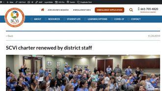 SCVi charter renewed by district staff