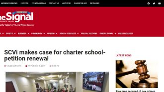 SCVi makes case for charter school-petition renewal