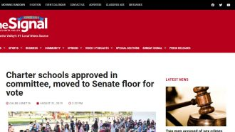 Charter schools approved in committee, moved to Senate floor...