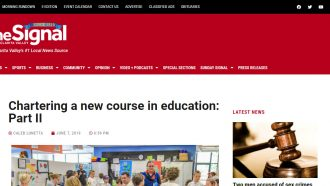 Chartering a new course in education: Part II