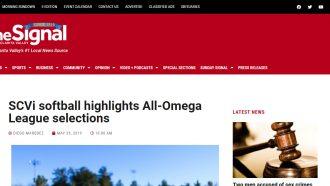 SCVi softball highlights All-Omega League selections