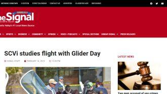 SCVi studies flight with Glider Day