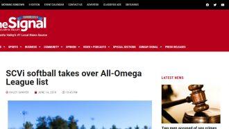 SCVi softball takes over All-Omega League list