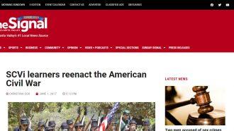 SCVi learners reenact the American Civil War