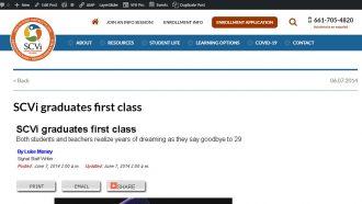 SCVi graduates first class