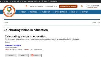Celebrating vision in education
