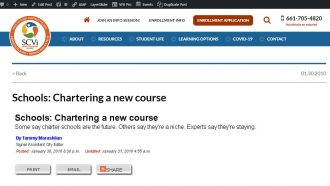 Schools: Chartering a new course