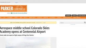 Aerospace middle school Colorado Skies Academy opens at Centennial...