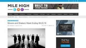 Movers and Shakers Week Ending 08.23.19