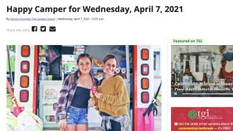Happy Camper for Wednesday, April 7, 2021