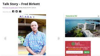 Talk Story – Fred Birkett