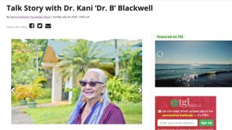 Talk Story with Dr. Kani 'Dr. B' Blackwell