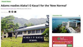 Adams readies Alaka'i O Kaua'i for the 'New Normal'