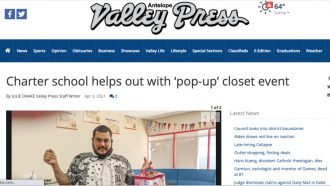 Charter school helps out with 'pop-up' closet event