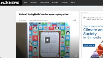 Holland Springfield Chamber opens up toy drive