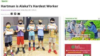Hartman is Alaka'i's Hardest Worker