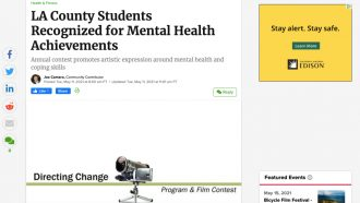 LA County Students Recognized for Mental Health Achievements