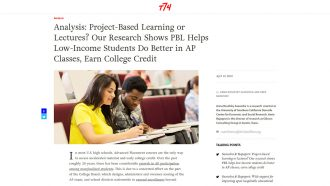 Analysis: Project-Based Learning or Lectures? Our Research Shows PBL...