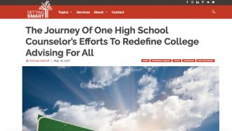 The Journey Of One High School Counselor's Efforts To...