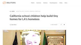 California school children help build tiny homes for LA's...