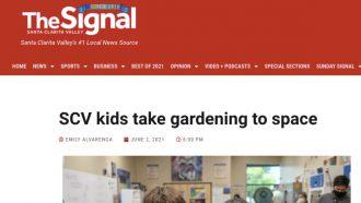 SCV kids take gardening to space